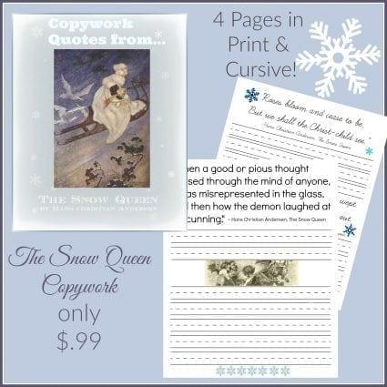 Snow Queen Copywork