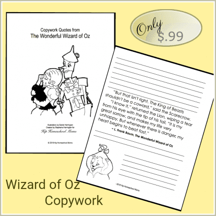 Wizard of Of Copywork