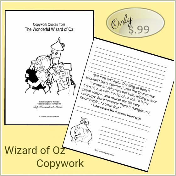 Wizard of Of Copywork