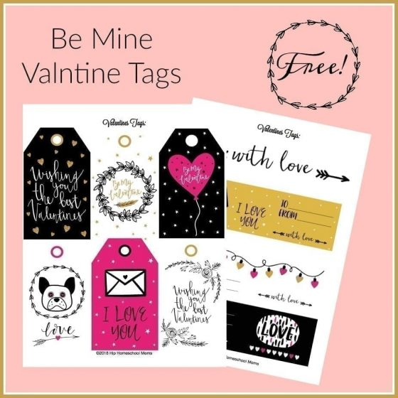Be Mine Valentine tags