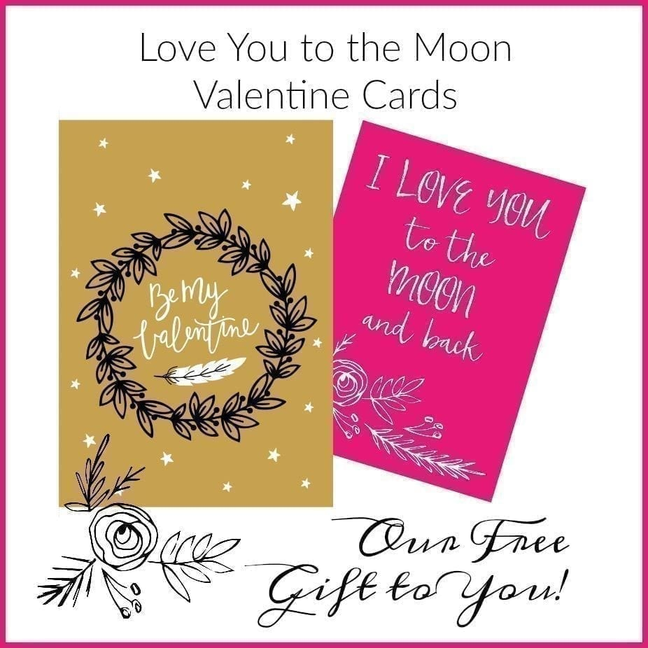 graphic relating to Printable Valentine known as Enjoy Your self toward the Moon- Totally free Printable Valentines Hip