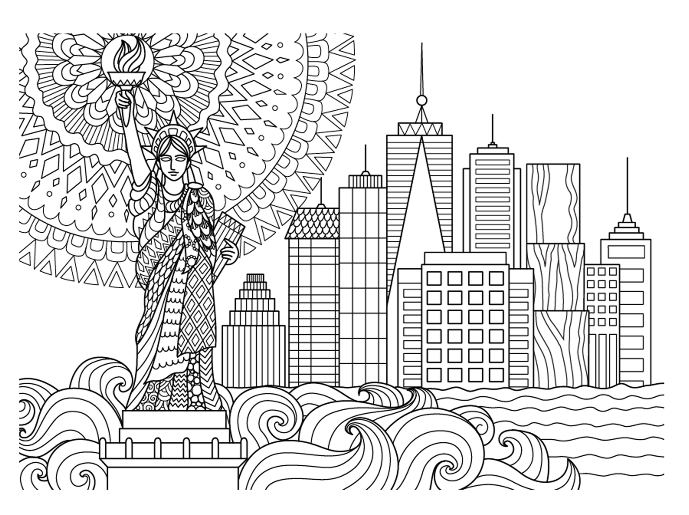 nyc coloring pages - photo#6