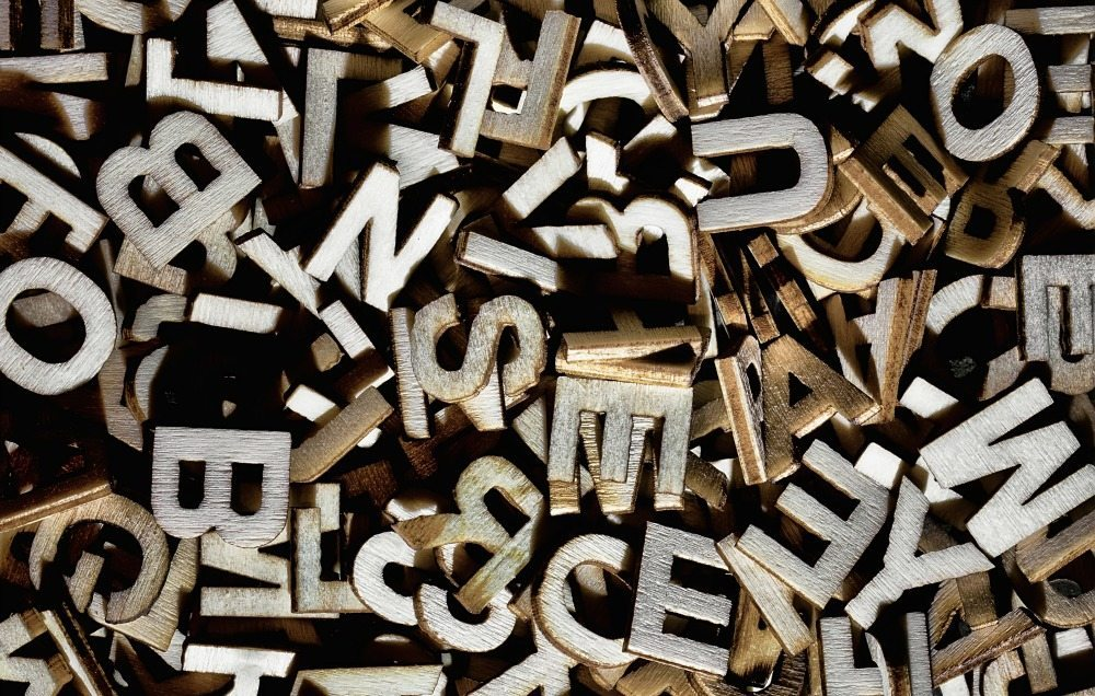 wood letters wide