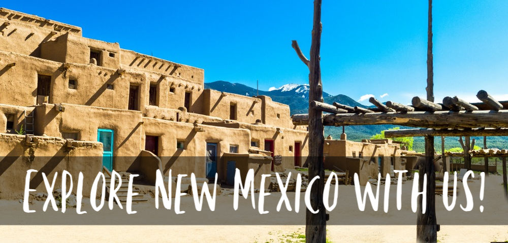 Taos Pueblo in Taos NM with blue sky behind it