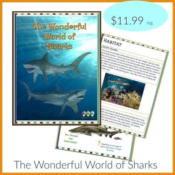 Free Sharks Workbook During Shark Week