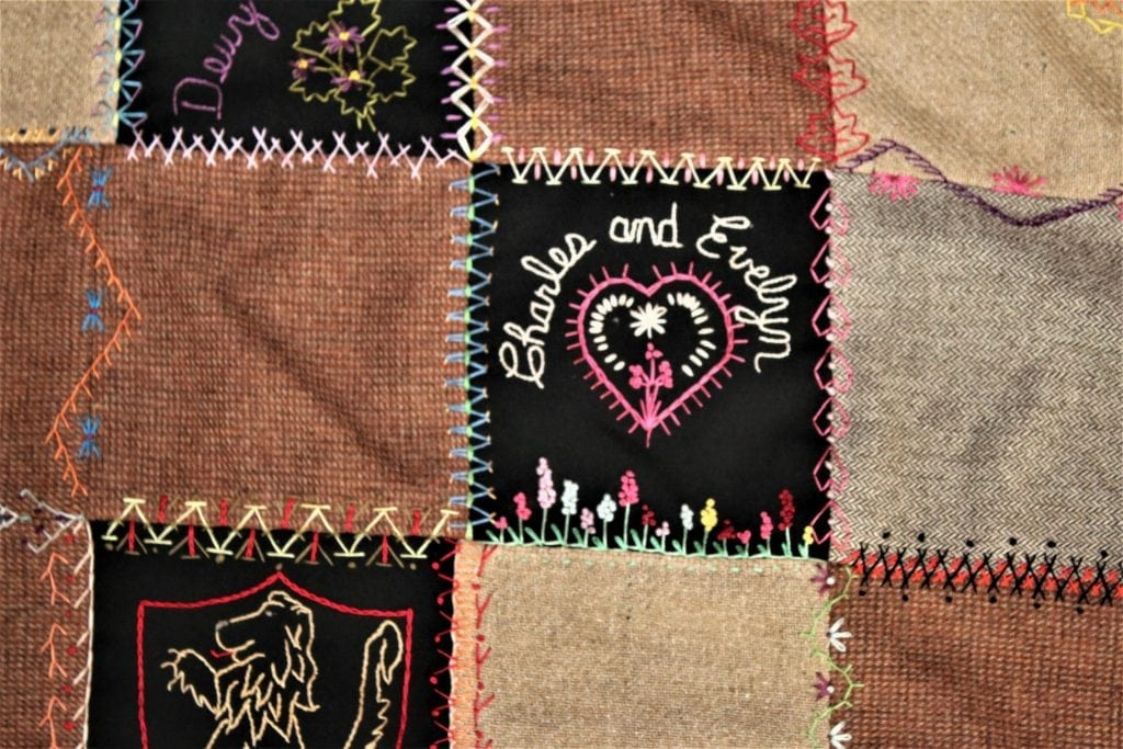 heart quilt square