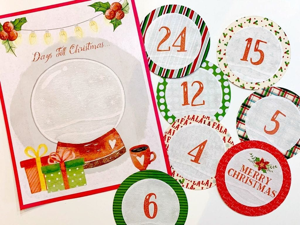 graphic regarding Christmas Countdown Printable identified as Free of charge Xmas Countdown Printable Hip Homeschool Mothers