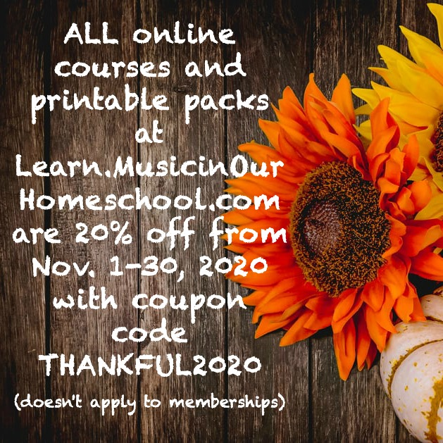Music in Our Homeschool Black Friday 2020