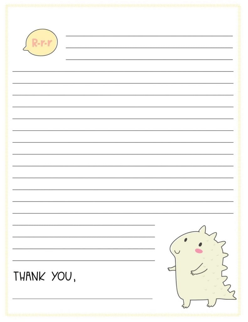 Printable Thank You Note 1