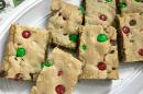 Christmas M&M Cookie Bars Recipe