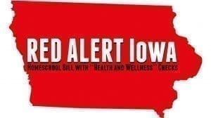 shape of the state of iowa with Red Alert for homeschoolers