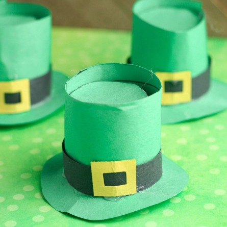 St. Patricks' Day Leprechaun hats craft