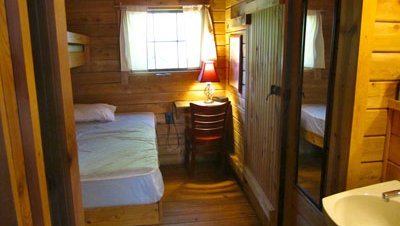 another inside view of the Lincoln's Logs cabin