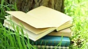 books outside in summer