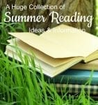stack of books outside during summer