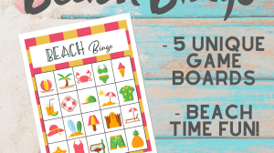 Beach Bingo Game Printable