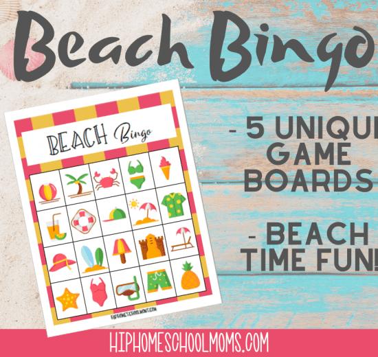 Beach Bingo Game Printable