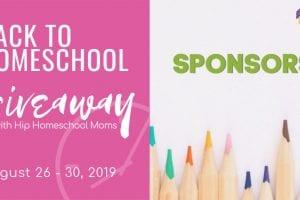 2019 Back to Homeschool Giveaway Sponsors