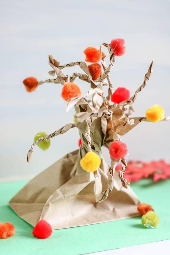 Fall Tree Paper Bag Craft Sample 2 3 1