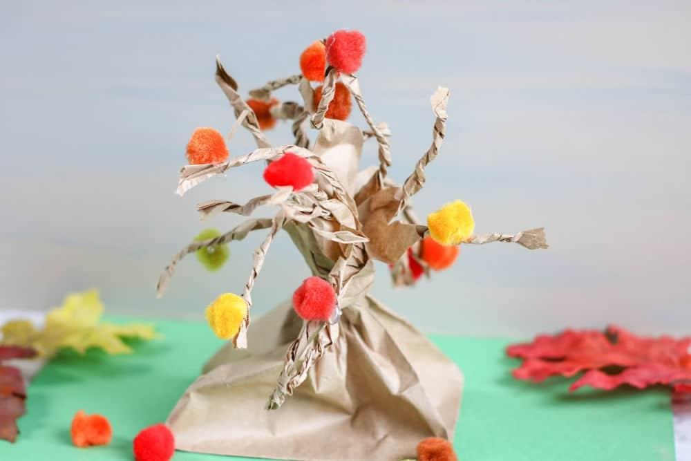 Fall Tree Paper Bag Craft Sample 2 4 1