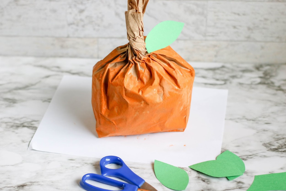 Pumpkin Paper Bag Craft Process 3 1