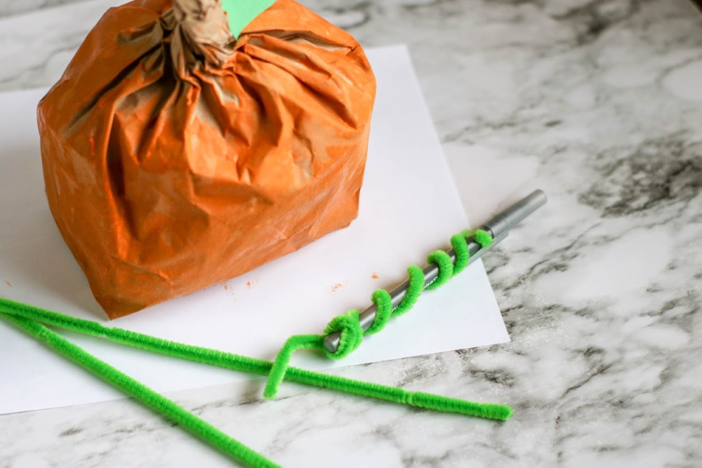 Pumpkin Paper Bag Craft Process 4 1