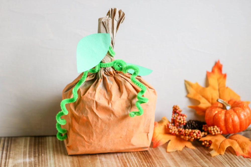 pumpkin paper bag art