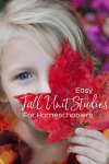 Easy fall unit studies for homeschoolers pin