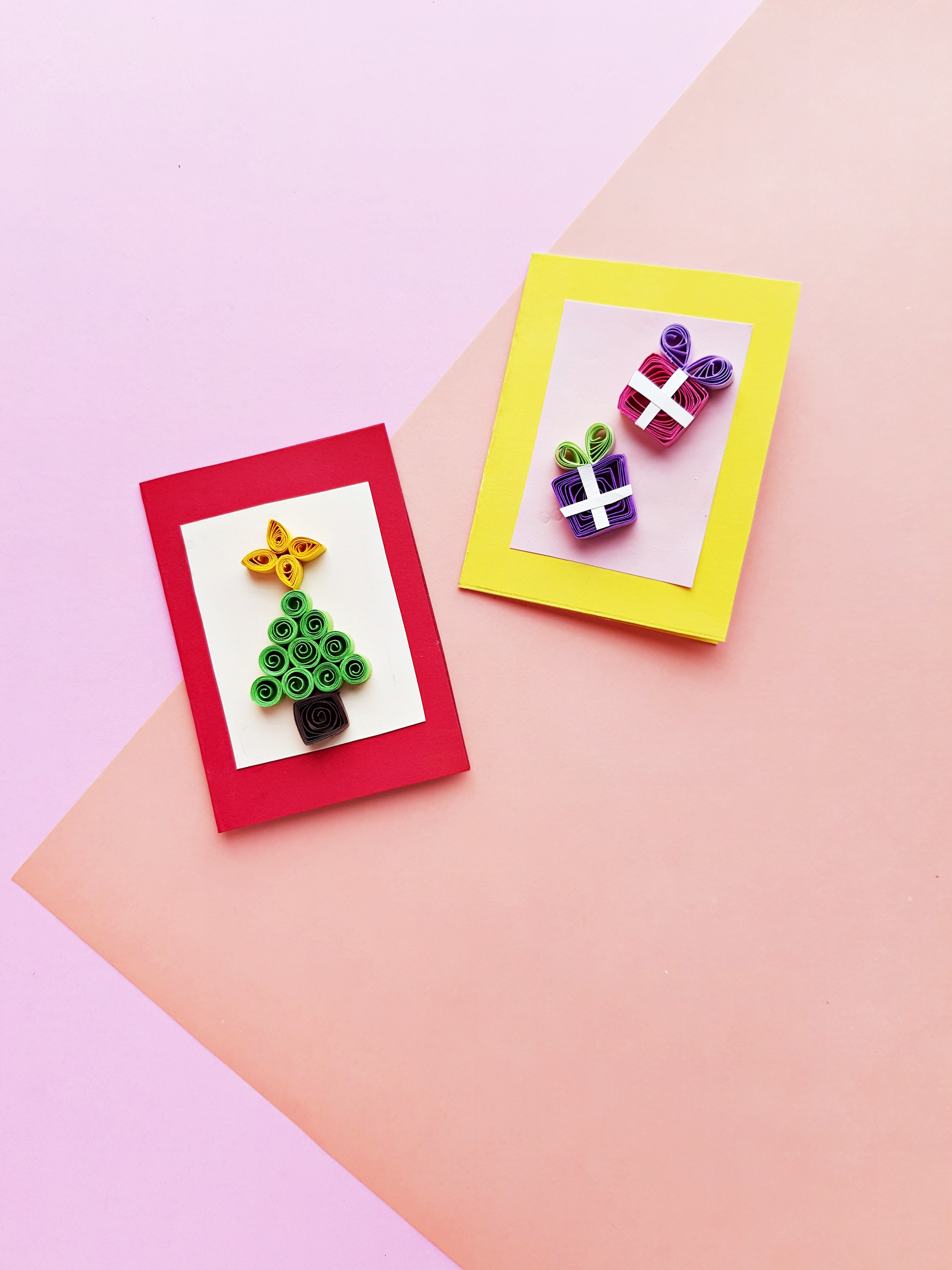 Quilled xmas card two 5