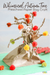 Whimsical Autumn Tree Preschool Paper Bag Craft pin