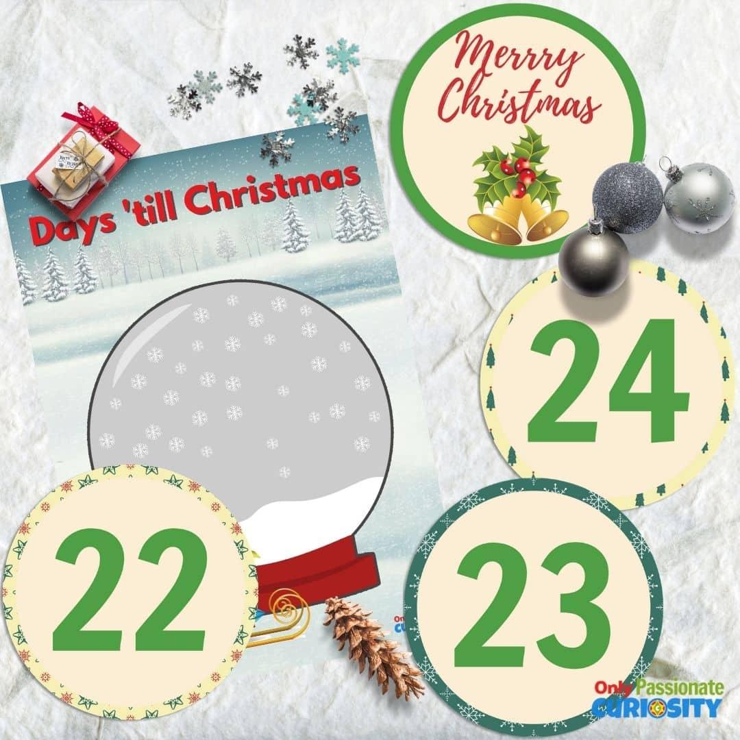 snowglobe Christmas countdown