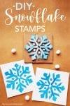 DIY snowflake stamps