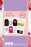 "These 4 pages of Valentine's Day tags can be used as stickers, ""to and from"" tags on gifts, or even as small cards–just print them out and write messages on the backs!"