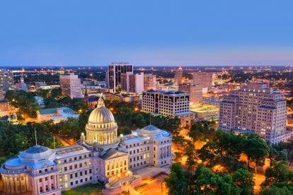 Mississippi at night