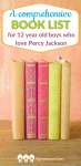 Pin A comprehensive book list for 12 year old boys who love Percy Jackson 3