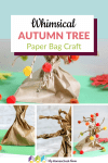 This whimsical autumn tree craft is easy enough for all ages! Use paper bags to create this fun and festive fall craft.
