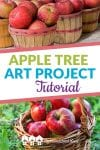 This apple tree art project tutorial makes a fun afternoon art project. Includes vocabulary ideas and additional resource suggestions!