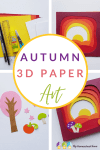 This gorgeous autumn paper craft is perfect for older children, teens and adults, too! Create your own amazing 3D autumn landscape with this tutorial! #Craft #Autumn #fallcraft #papercrafts #autumnart #craftingwithkids #diy #hiphomeschoolmoms