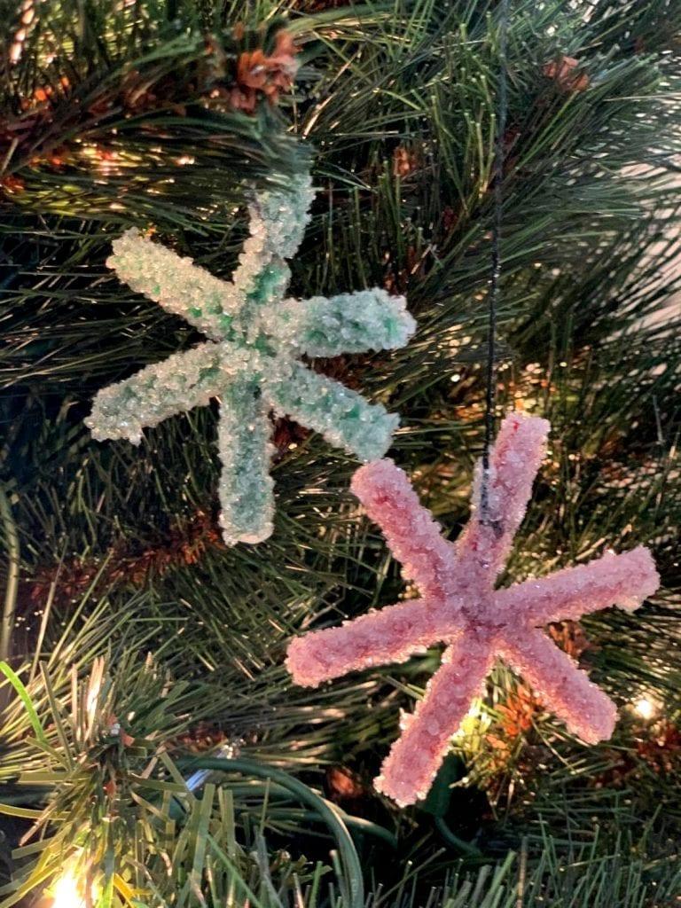 crystal star ornaments