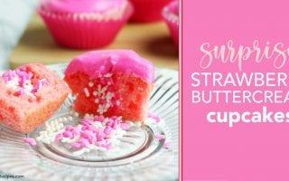 LTR Strawberry Buttercream Surprise Cupcakes FB 2