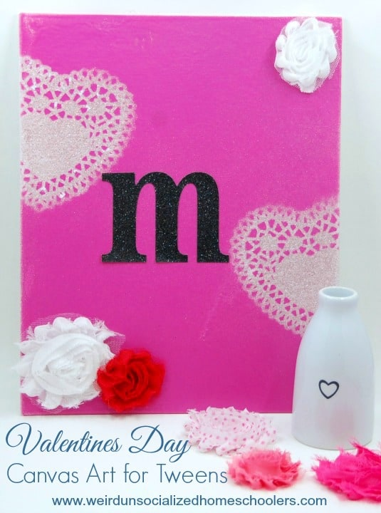 Valentines Day Canvas Art for Tweens
