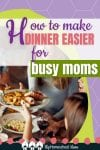 Dinner-time can be chaotic and stressful! These 10 tips for making dinner easier for busy moms and Dream Dinners can help!