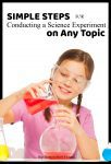 steps for science experiment on any topic