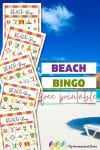 This free printable Beach Bingo is a fun game for all ages! Throw it in your beach bag and enjoy with your family! Includes 5 game boards.