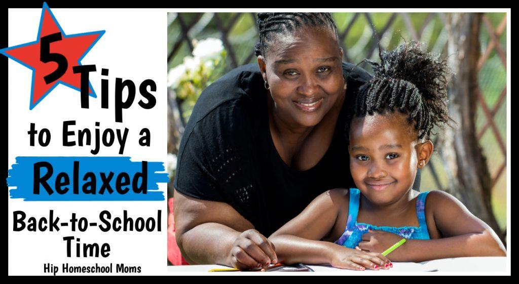 mom and daughter enjoying back-to-homeschool time