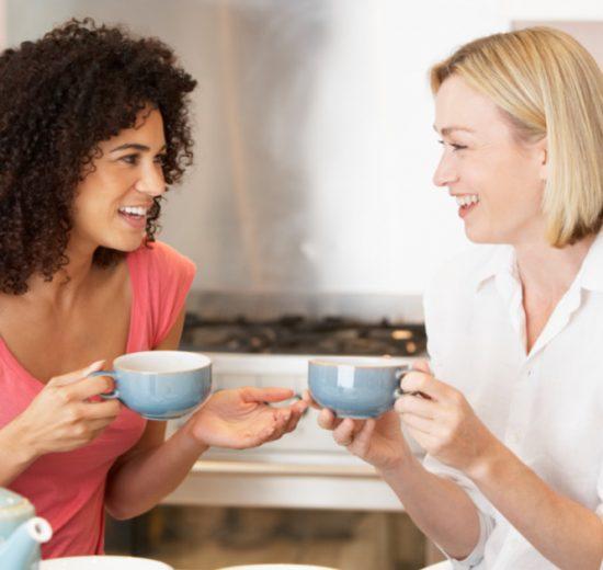 moms having tea together